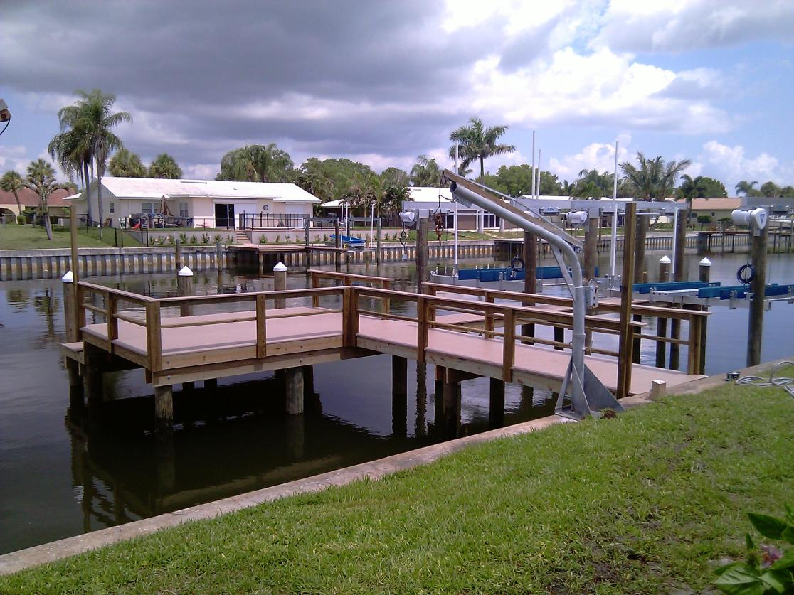 New dock with Azek Decking, and 2 Deco Boat Lifts