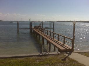 Composite dock and 2 boat lifts in St. Pete Beach, FL