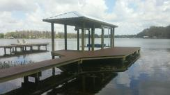 New Trex Transcends Dock with Metal Roof and 6,000LB Deco Lift in Tampa, FL