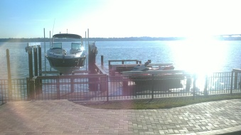 Deco 20,000LB lift and Low Profile Deco Deck Lift for 2 jet skis in Belleair Beach, FL