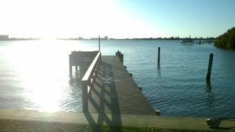 New Trex Transcends Dock, with rail and bench in St. Petersburg, FL