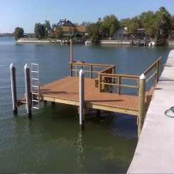 Ladder, Rubber bumpers, Rail, Bench, Lamp post, Fish Table