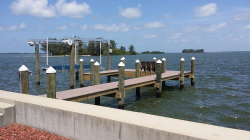 Azek Dock with 13,000LB Deco Boat Lift in Dunedin, FL