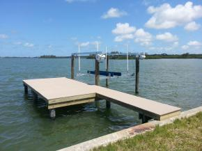 New Wear Deck Dock with 10,000LB Deco Boat Lift.