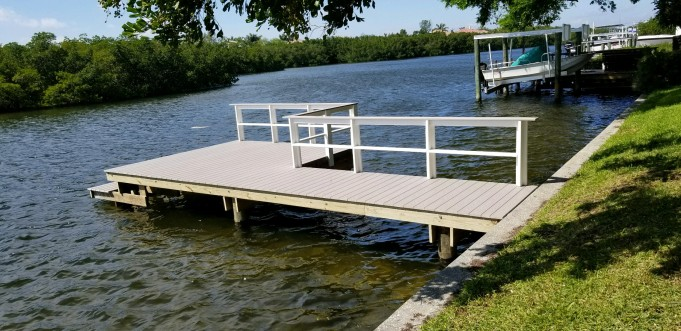 New Wear Deck Dock with multi-colored Wear Deck rail.