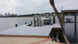 Composite Dock, 20,000LB Deco Boat Lift, 10,000LB Deco Boat Lift and Roof in St. Petersburg, FL