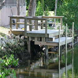 New Azek Dock with Lower Landing in Largo, FL