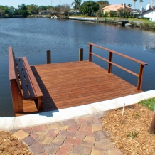 Stained wood dock in Largo, FL