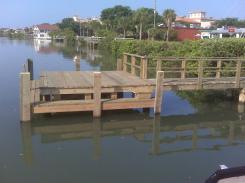 Wood Dock in Indian Rocks Beach, FL