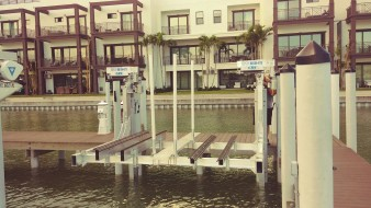 2 pole double jet ski lift