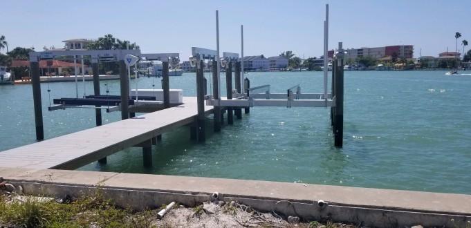 Wear Deck dock with 25,000LB Deco Lift and 6,000LB Deco Lift